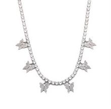 "Load image into Gallery viewer, ""Mariposa"" Tennis Necklace"