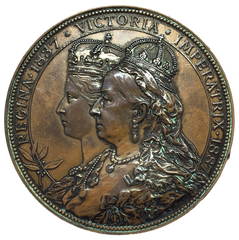1887 City of London Victoria Jubilee Historical Medallion by A Scharff