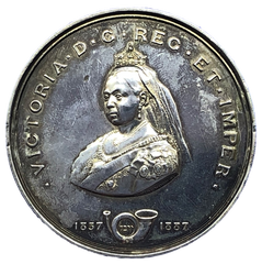 1887 Golden Jubilee - The Queens Medal by A Kirkwood & Sons