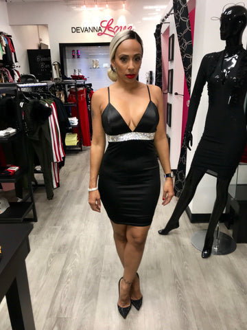 Black Diamond Fitted Dress