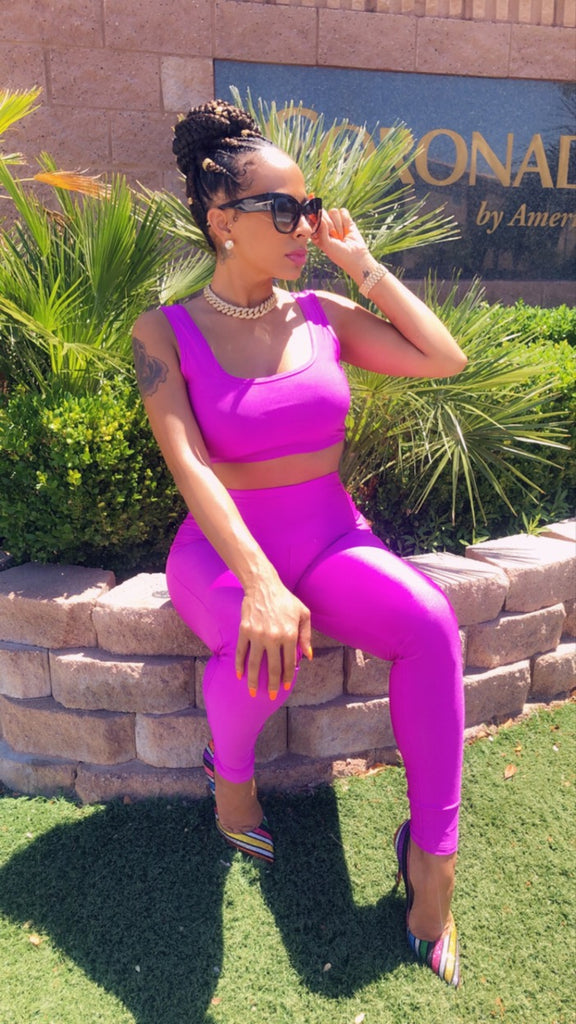 Purple Rain Two Piece Pants Set
