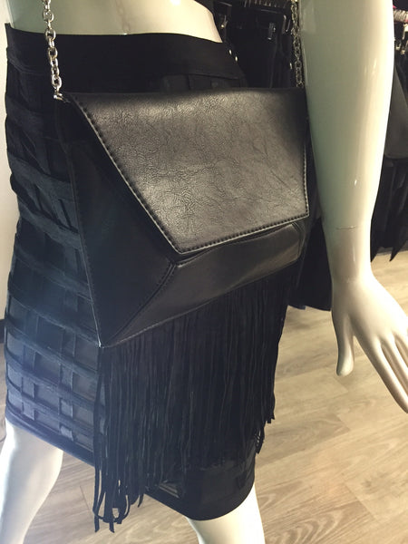 Black Fringe Body Purse
