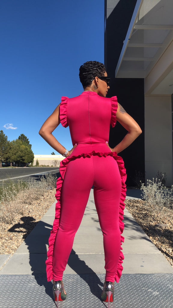Pink Ruffle Me Up Jumpsuit
