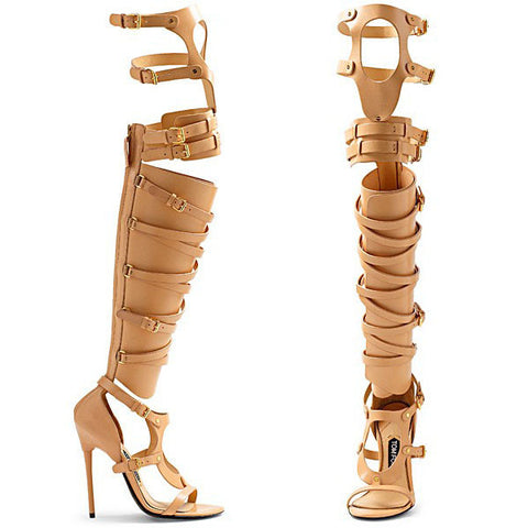 NEW  Tom Ford Nude Gladiator Boots