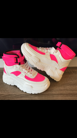 Hot Pink City Girl Sneakers