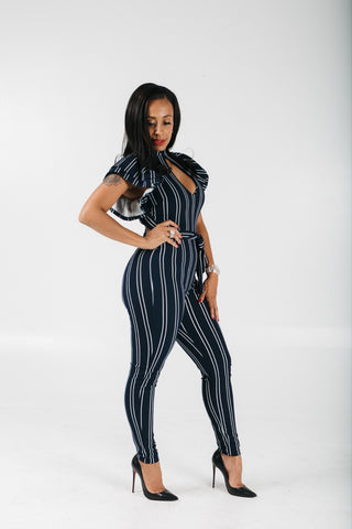 Sailor Girl Striped Jumpsuit
