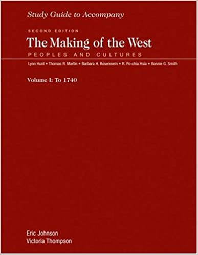 Study Guide for the Making of the West, Volume 1