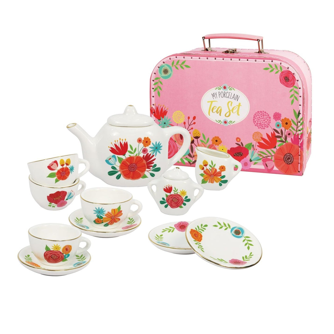 My Porcelain Tea Set w/Carry Case