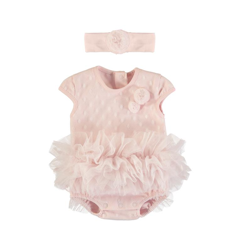 Ruffle Bodysuit with Headband