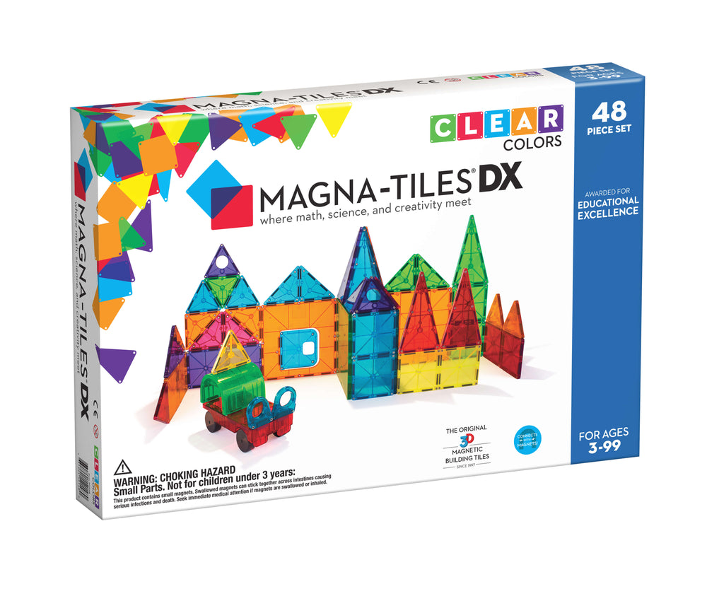 Magna-Tiles Clear Colors Magnetic Building Sets
