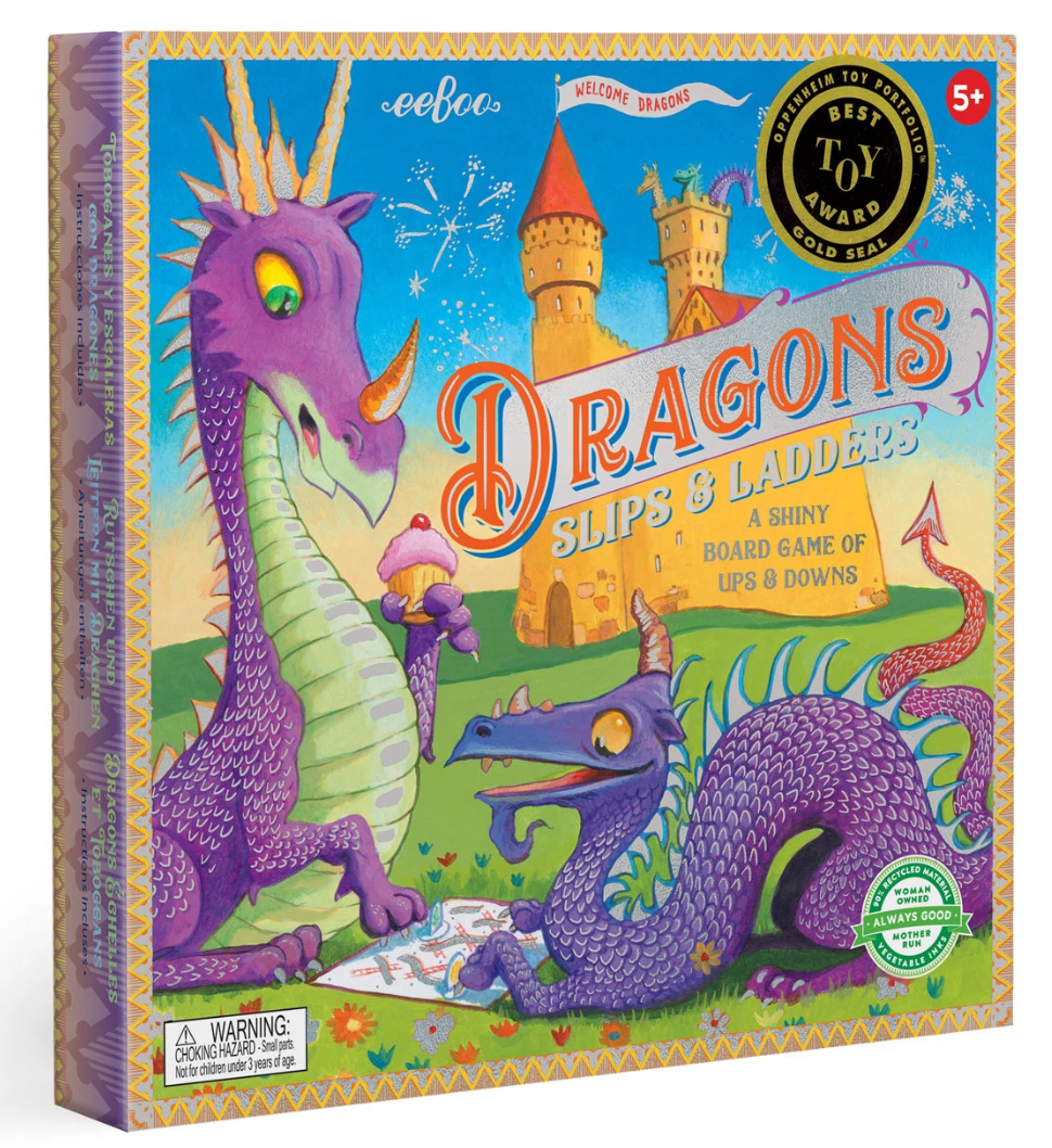 Dragon Slips & Ladders Board Game