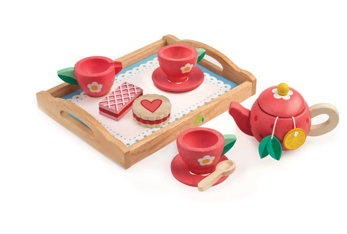 Tea Tray Wooden Set