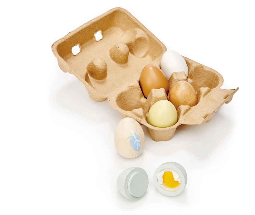 Wooden Play Kitchen Eggs