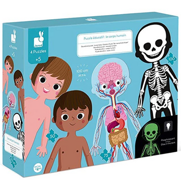 Human Body Educational Puzzle Set