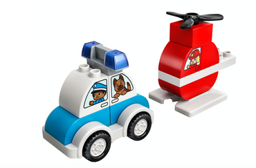 DUPLO Fire Helicopter & Police Car