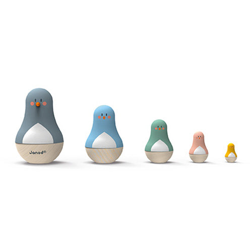 Nested Bird Russian Dolls