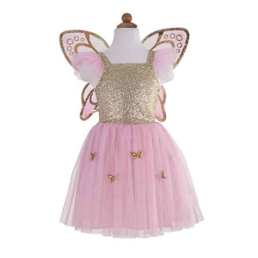 Gold Butterfly Dress with Wings