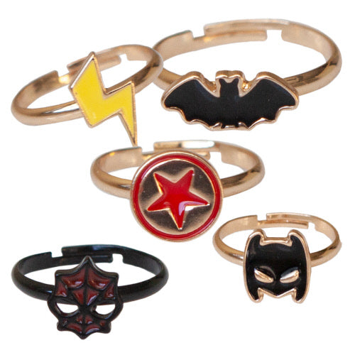 Superhero Rings Assorted