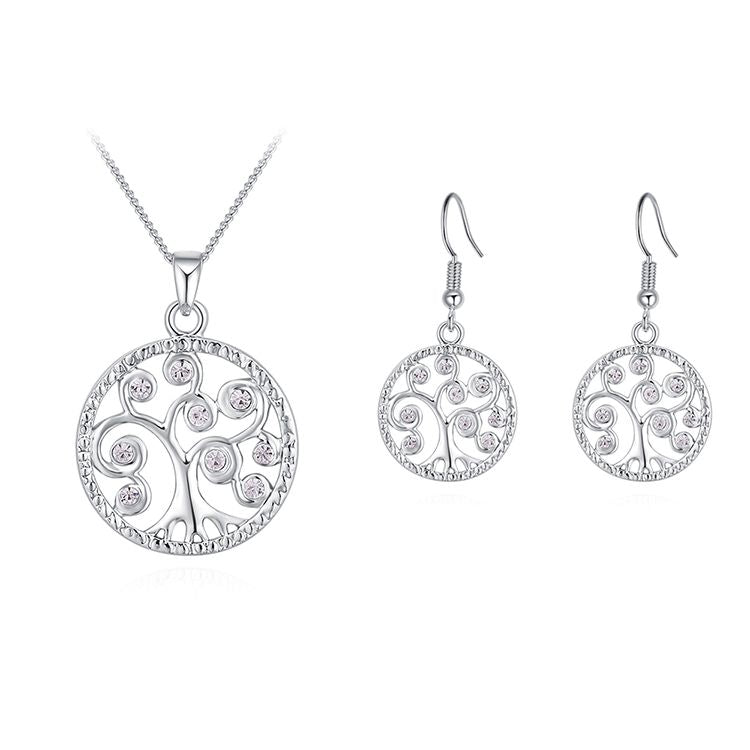 Alloy Set--acacia Tree C (platinum) Fine Jewelry