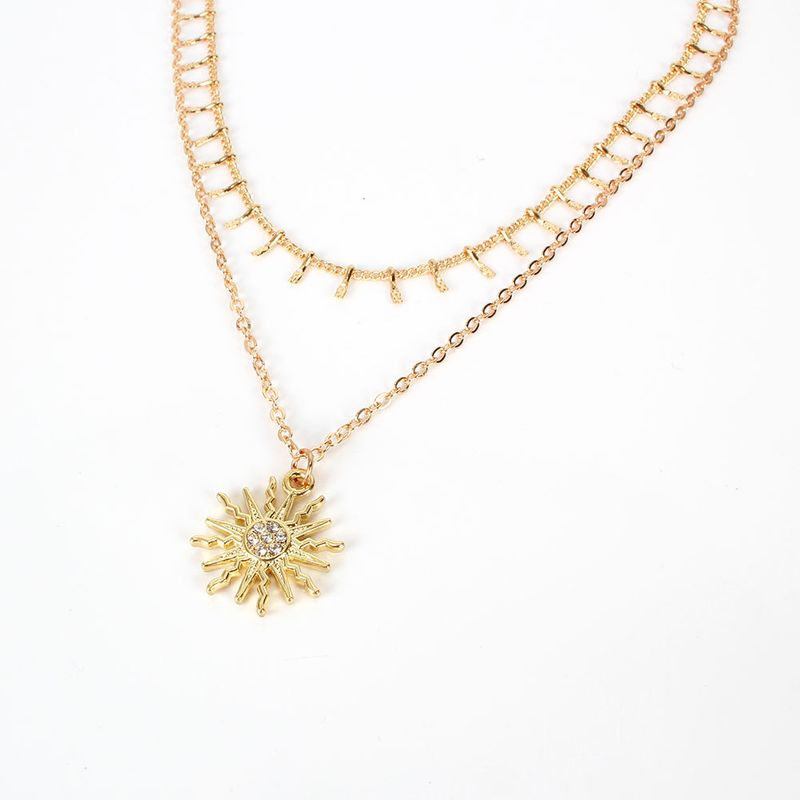 Wild Simple Sun Flower Pendant Jewelry Fashion Necklace Wholesale