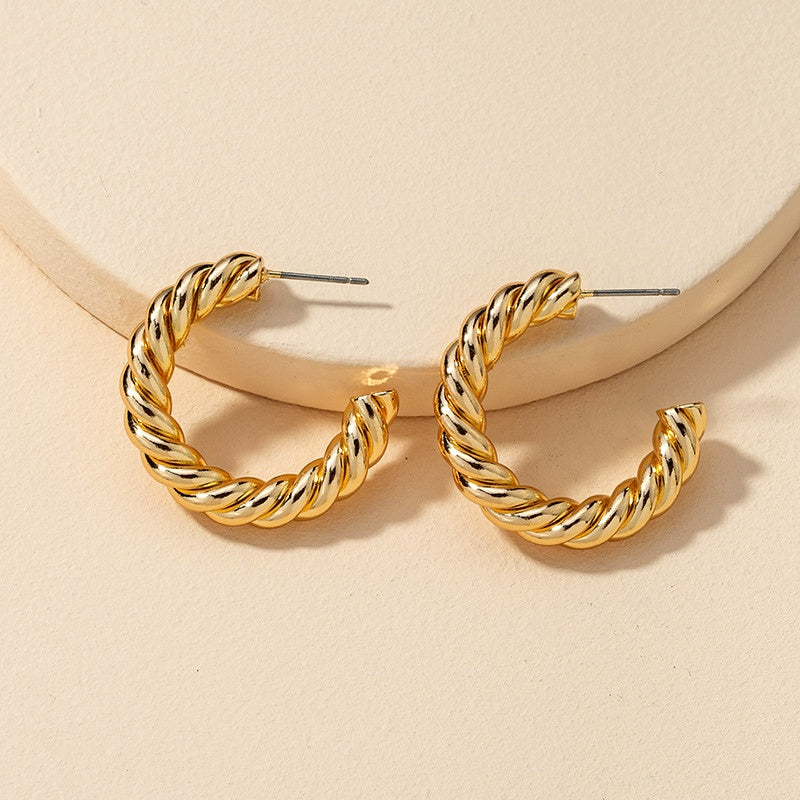 Fashion Metal C-shaped Earrings