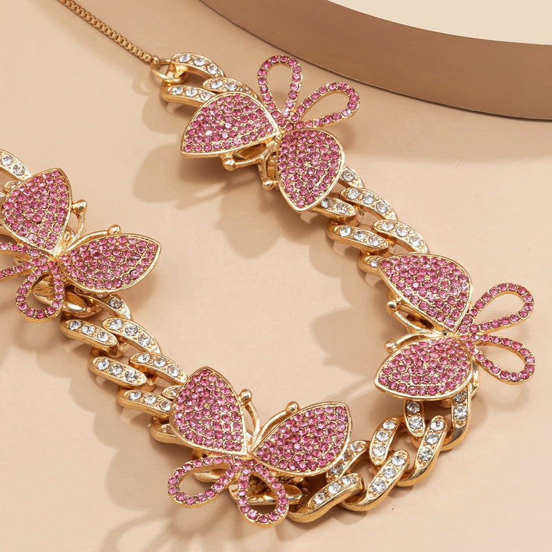 Butterfly Adjustable Diamond Necklace