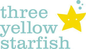 Three Yellow Starfish - Austin Baby Boutique Logo