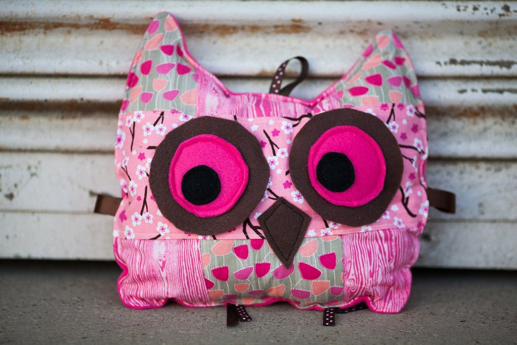 handmade hot pink owl stuffed animal