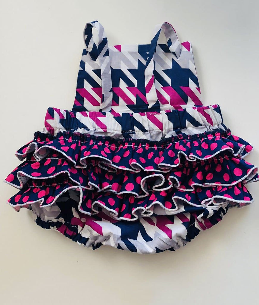 baby rompers for girls tiered ruffle close up