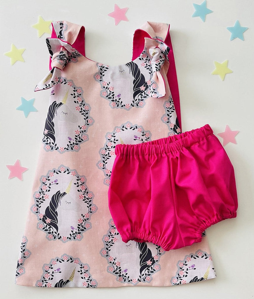 pink unicorn outfit for birthday girl