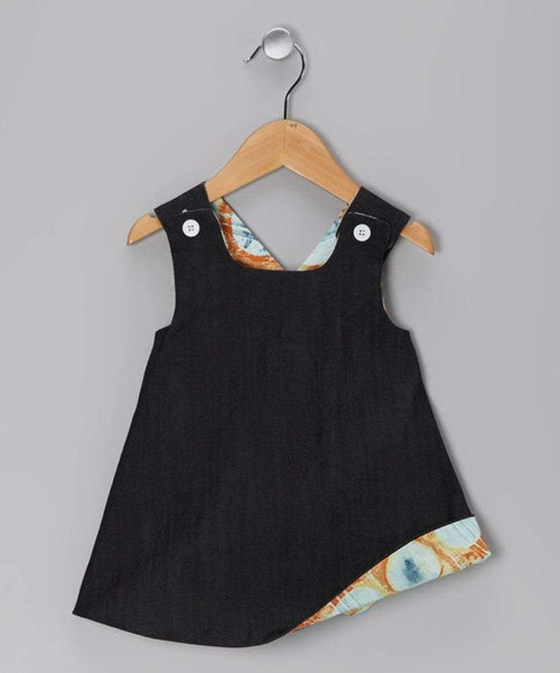 denim dress for baby and toddler girls