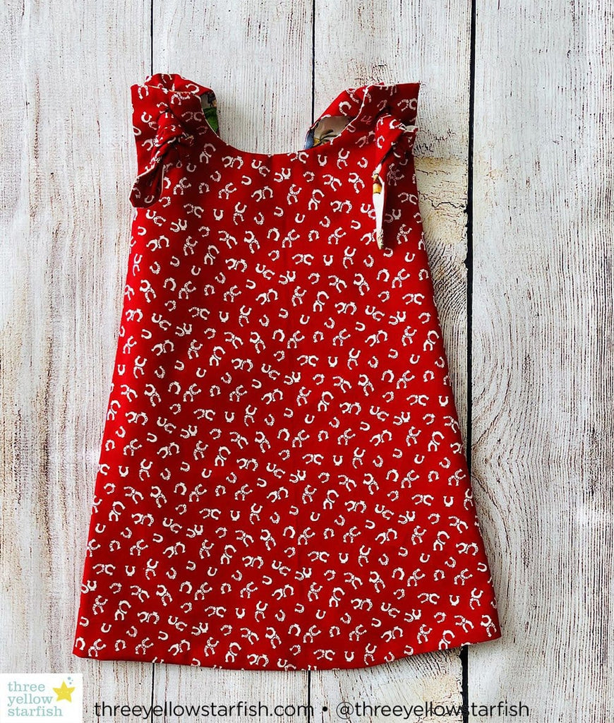 red cow girl outfit for baby girls