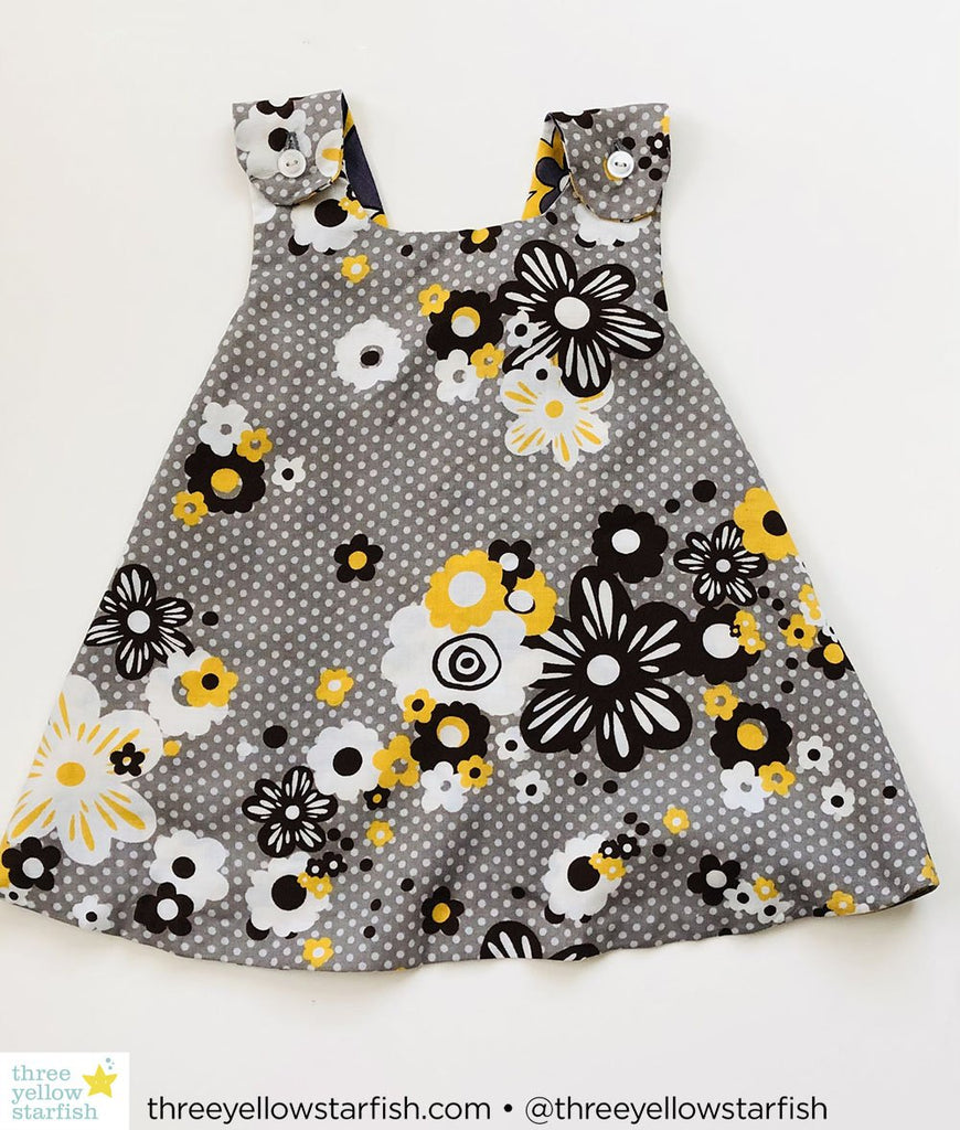 grey and gold dress for little girls
