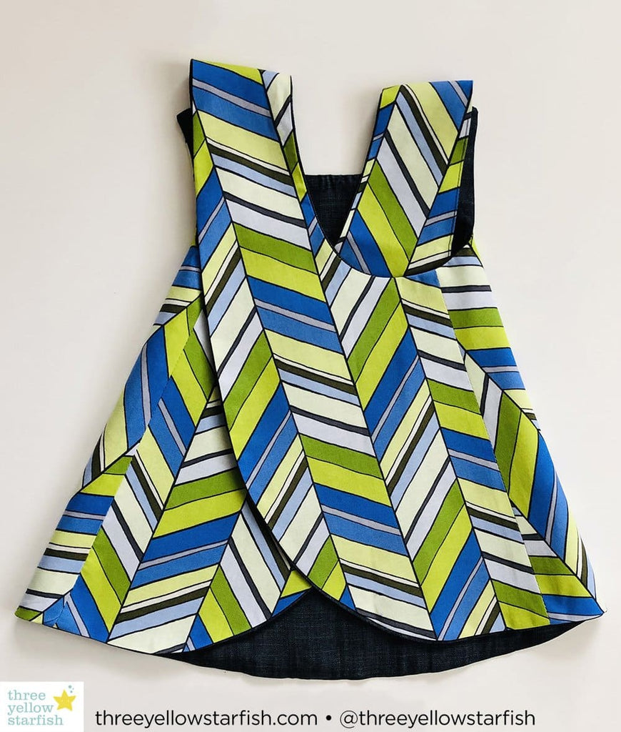 blue and green baby girl dress size 5