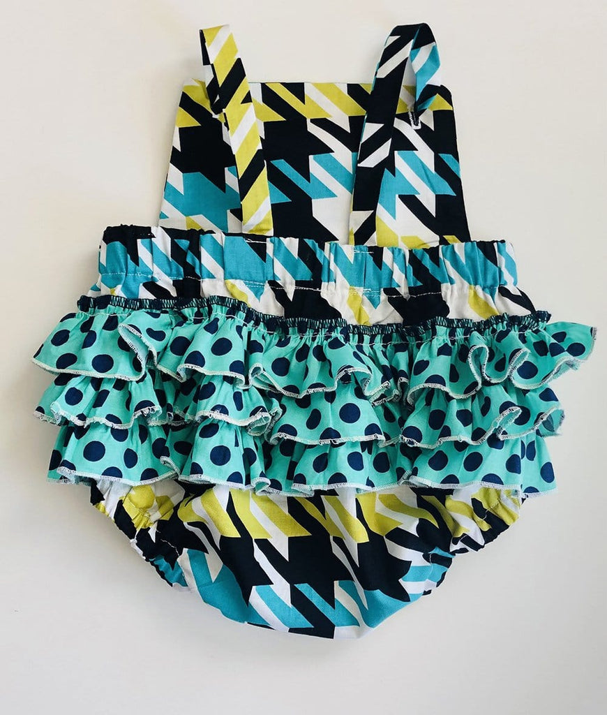 green and black toddler romper for girls