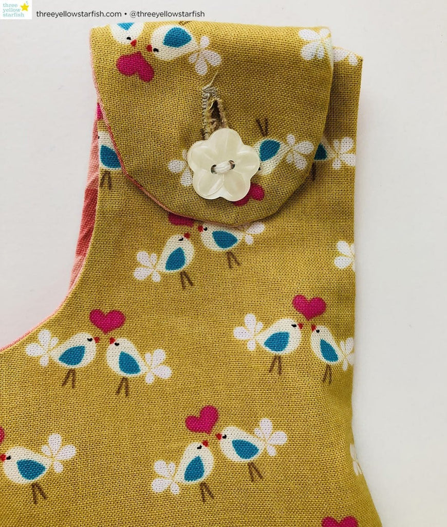 bird print pinafore dress for baby