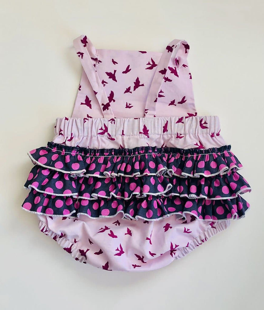 pink ruffle romper for baby girls