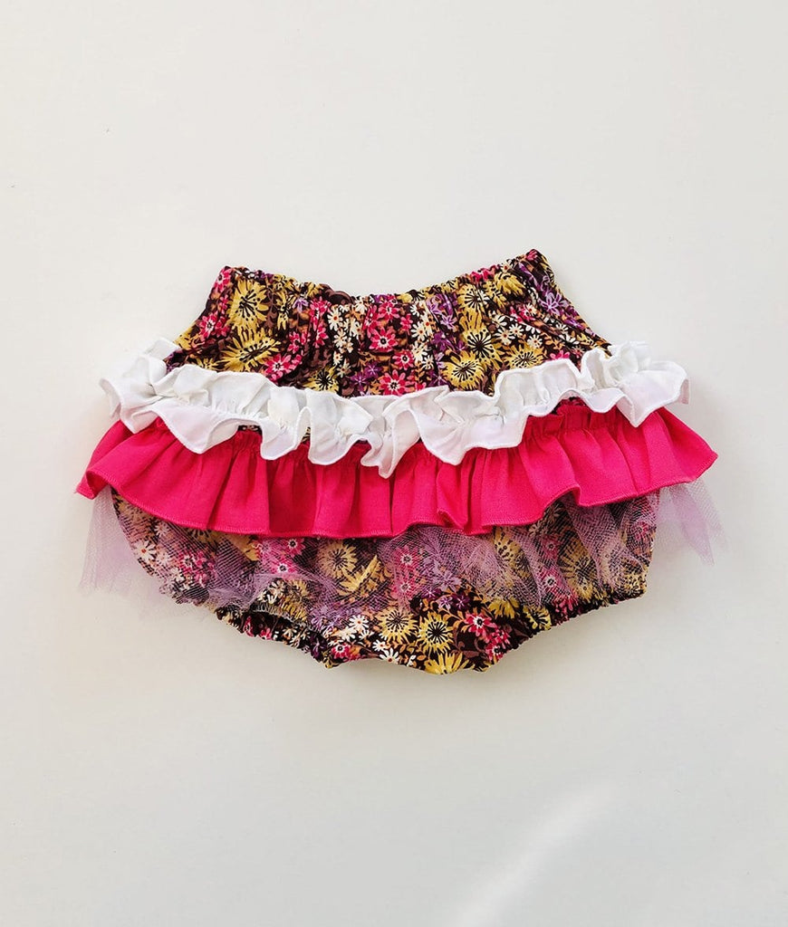 hip baby girl clothes pink floral ruffle bloomers