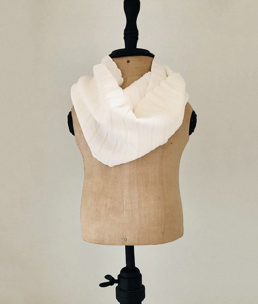 white sweater knit infinity scarf for toddlers collection image