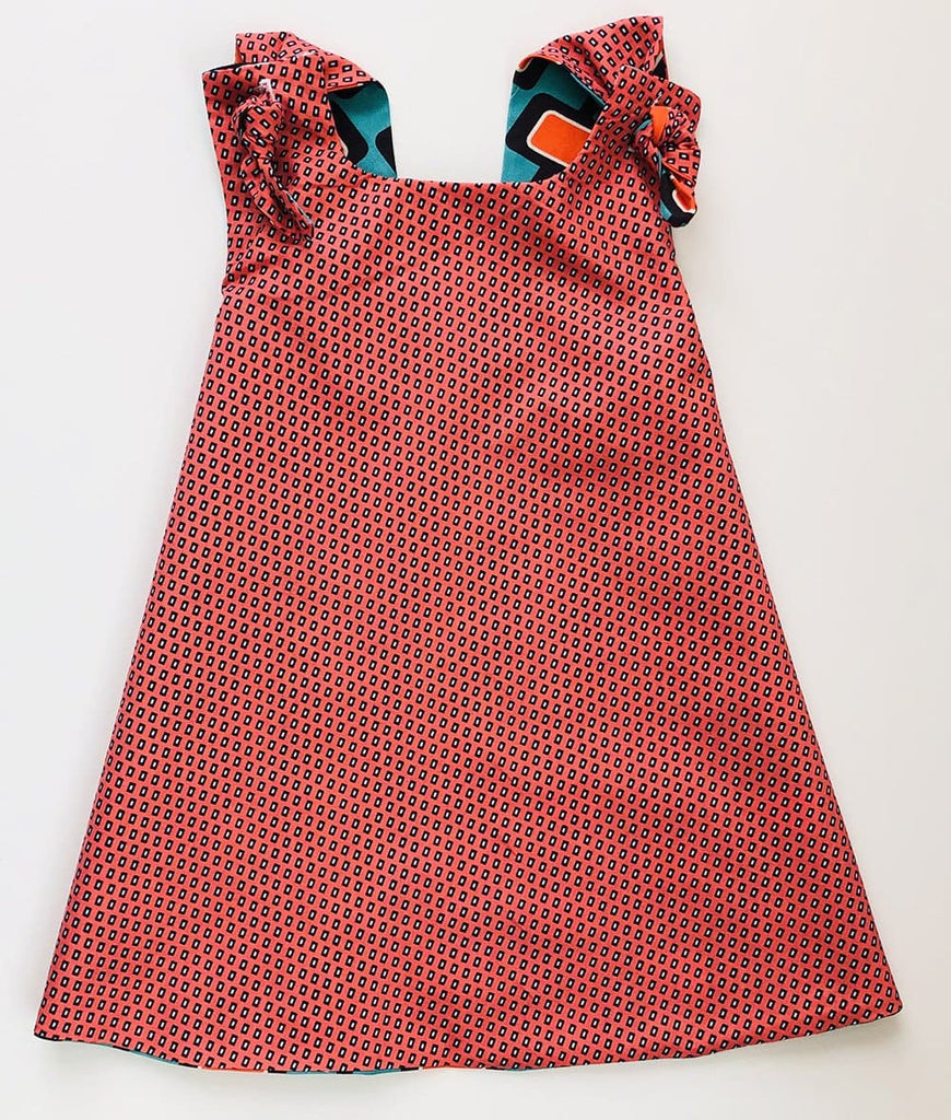 cute salmon colored dress for baby girls