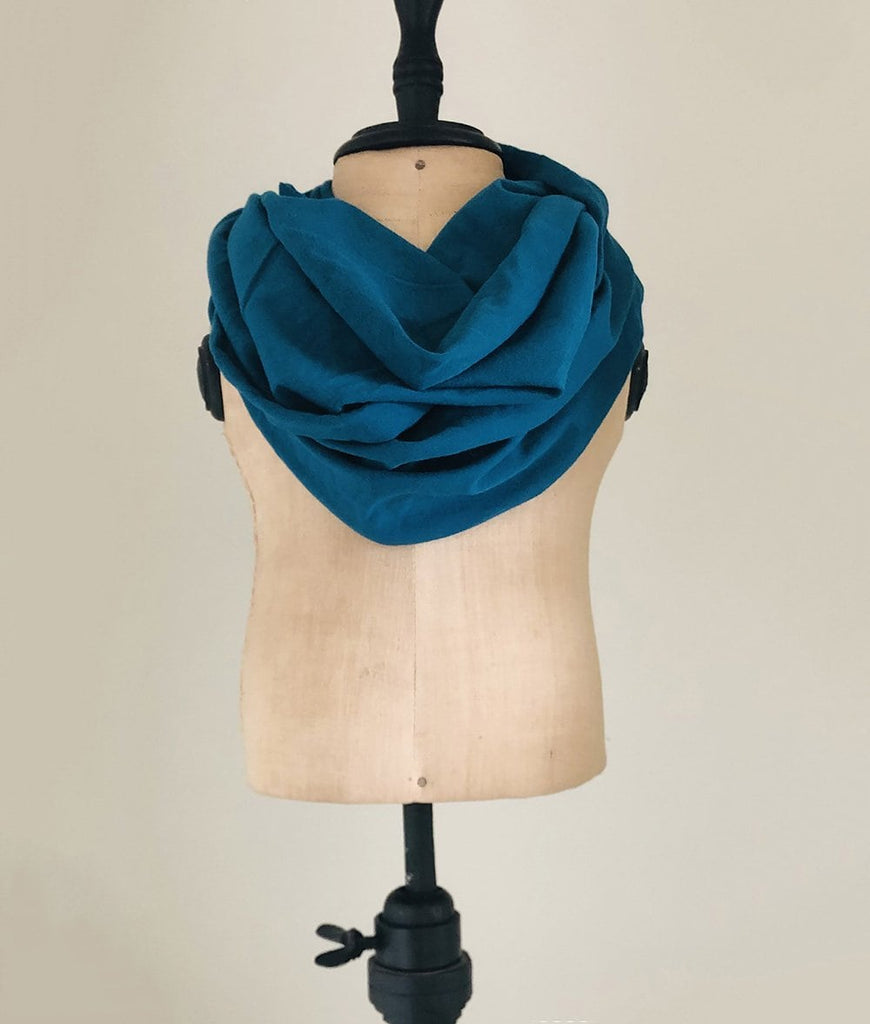 Scarves for toddlers in teal blue green