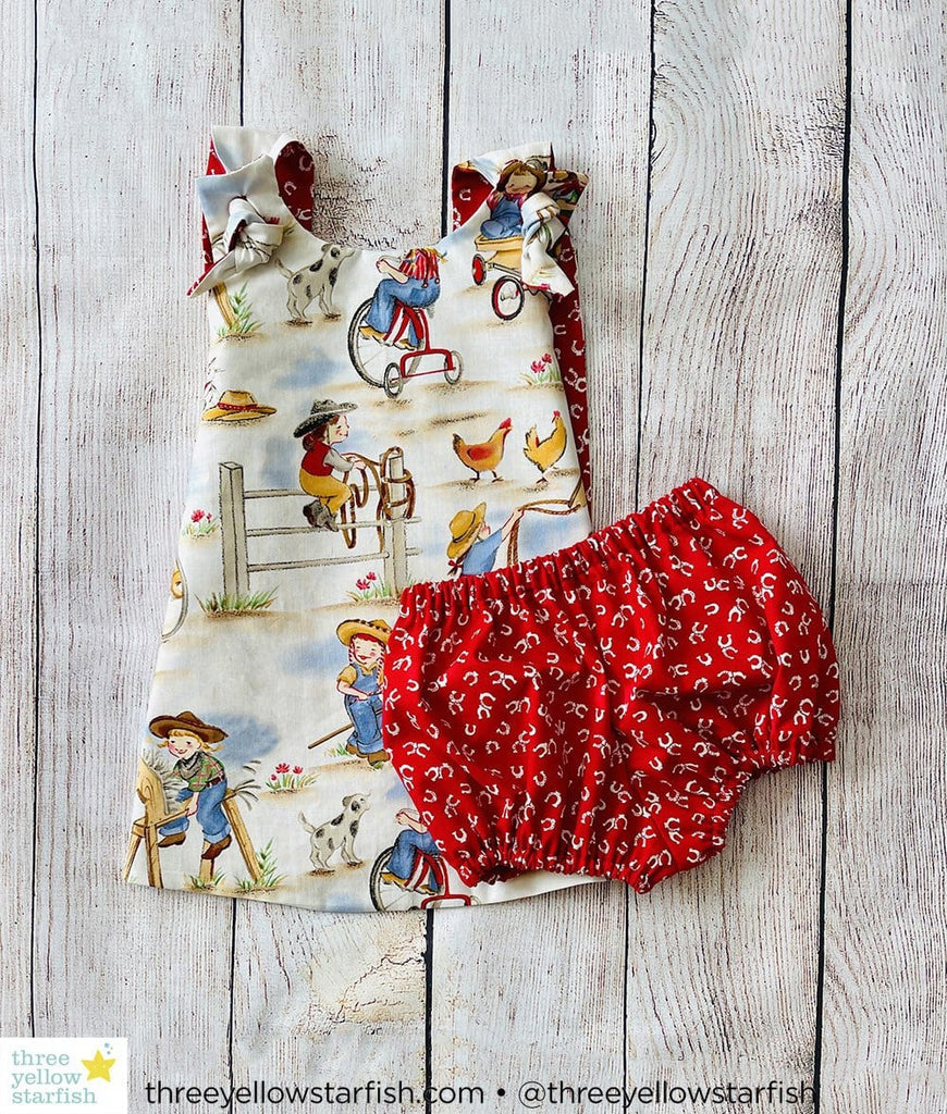 toddler girls dress up clothes with cowgirl print fabric