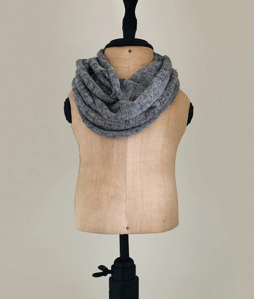 Heather grey scarf from the toddler infinity scarves collection