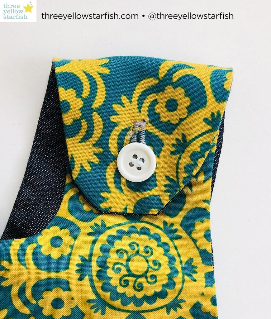 mustard and turquoise dress for girls strap detail