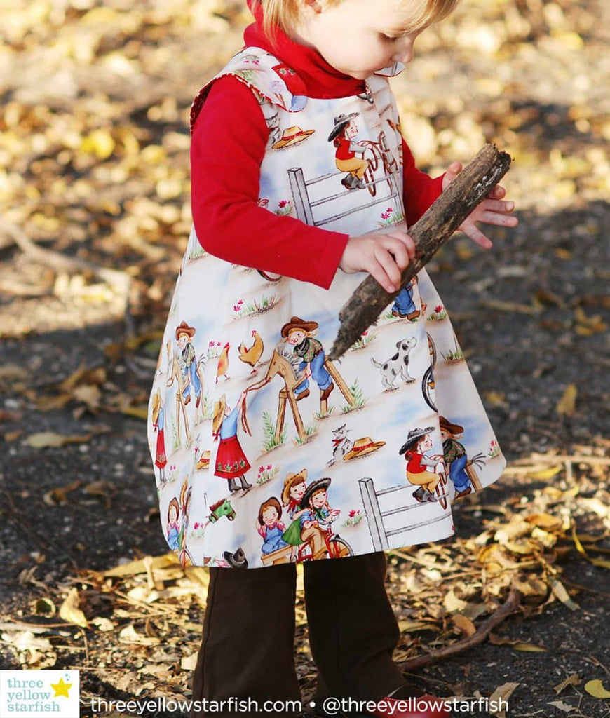 western baby clothes for girls with vintage cowgirl print fabric