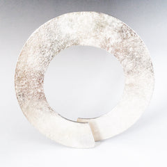Large silver textured bangle