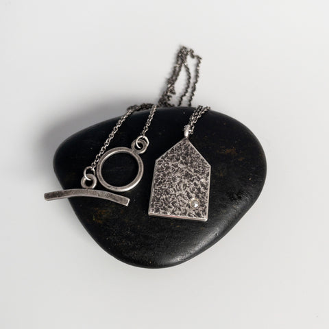House pendant, oxidized