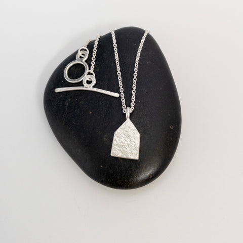 Small House pendant, silver