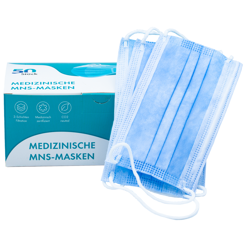 50x Einwegmasken - CO2 neutral