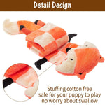 Load image into Gallery viewer, Fox Plush Dog Squeaky Mat Toy